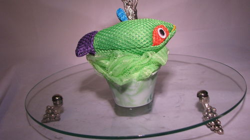 Zoo Friend Scrubbies Green Fish Scent Lime Coconut